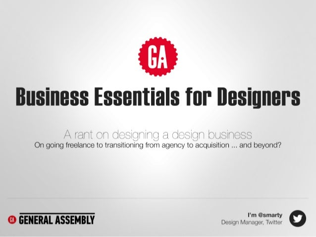 Business Essentials for Designers