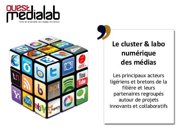 Le cluster & labo numérique des médias Les principaux acteurs ligériens et bretons de la filière et leurs partenaires regr...