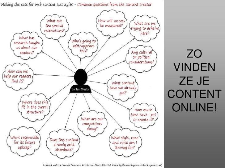 ZO VINDEN ZE JE CONTENT ONLINE!<br />