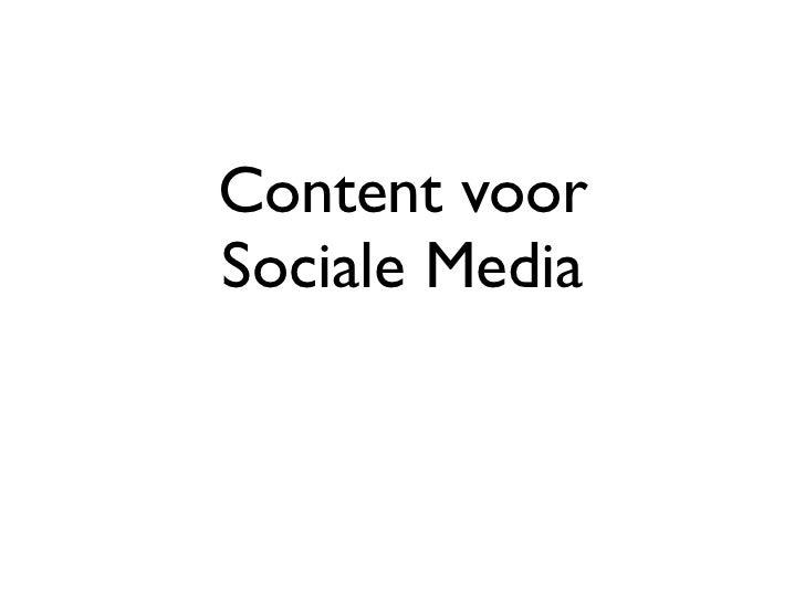 Content voorSociale Media