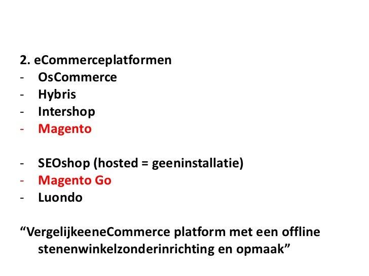 KVK Seminars - Een Webwinkel Starten!KVK Noord Seminars | 2011