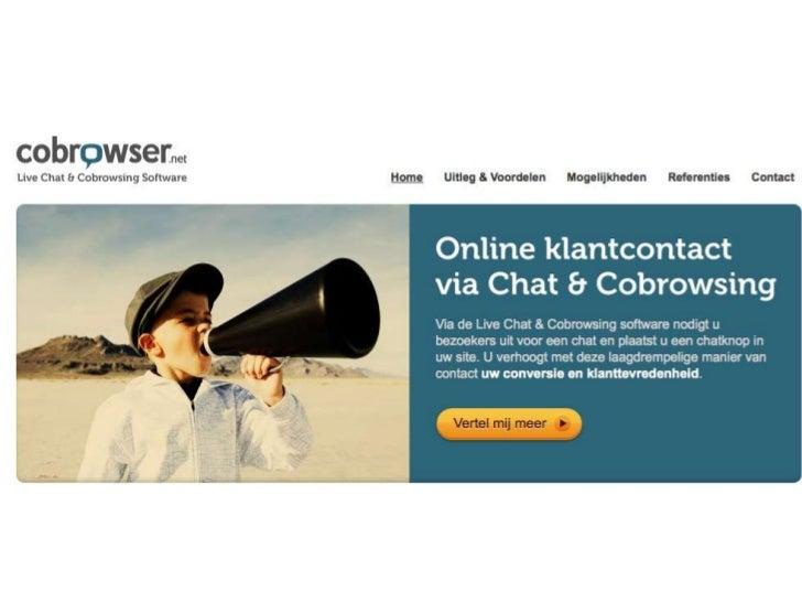 6. Diensten    5. Koppelingen met marketing              methoden4. Content / keurmerken / branche       3. Design & Produ...