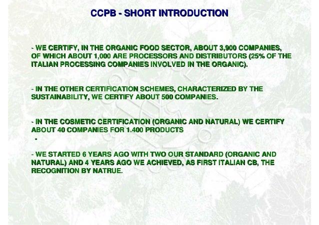 Cosmetici Biologici: convegno Biofach 2013  Slide 3