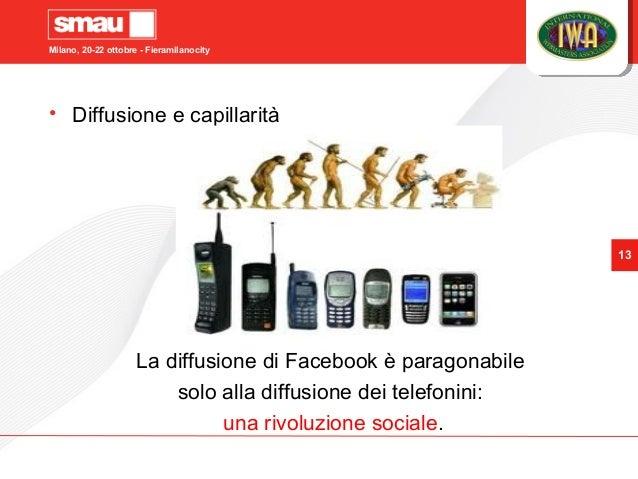 Milano, 20-22 ottobre - Fieramilanocity 13 • Diffusione e capillarità La diffusione di Facebook è paragonabile solo alla d...