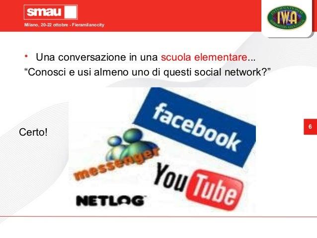 """Milano, 20-22 ottobre - Fieramilanocity 6 • Una conversazione in una scuola elementare... """"Conosci e usi almeno uno di que..."""