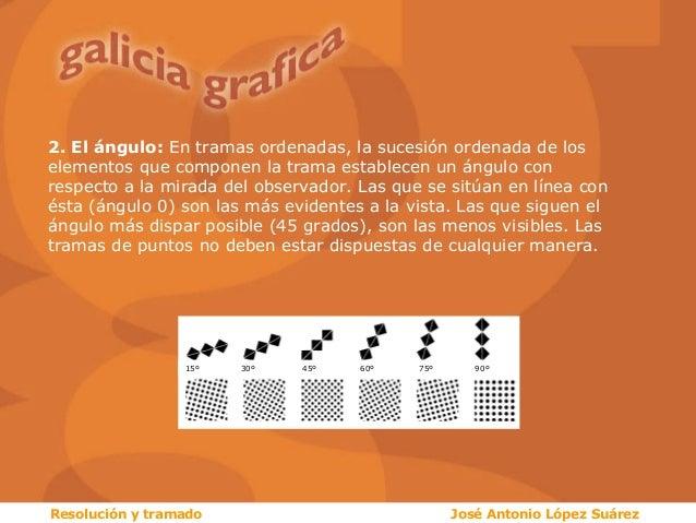 2. El ángulo: En tramas ordenadas, la sucesión ordenada de los elementos que componen la trama establecen un ángulo con re...