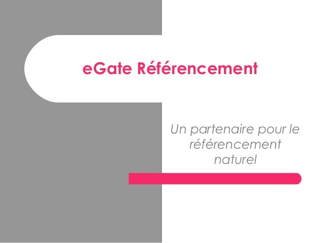 eGate Référencement Un partenaire pour le référencement naturel