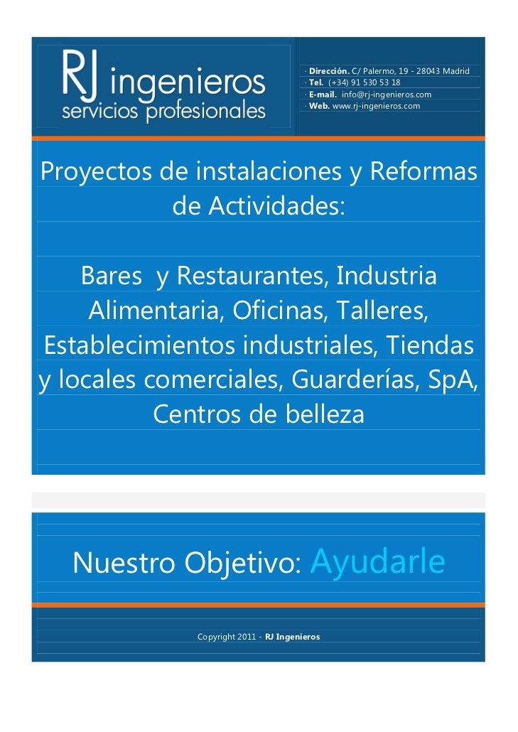 Rj ingenieros proyectos de instalaciones y reformas de - Instalaciones y reformas ...
