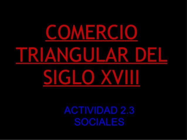 COMERCIO TRIANGULAR DEL SIGLO XVIII ACTIVIDAD 2.3 SOCIALES