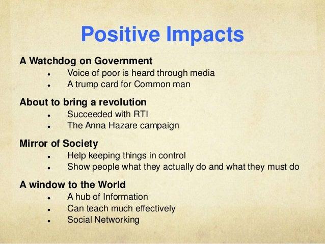 impact of media on society essay