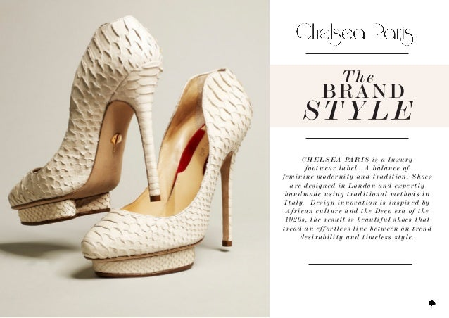 CHELSEA PARIS is a luxuryfootwear label. A balance offeminine modernity and tradition. Shoesare designed in London and exp...