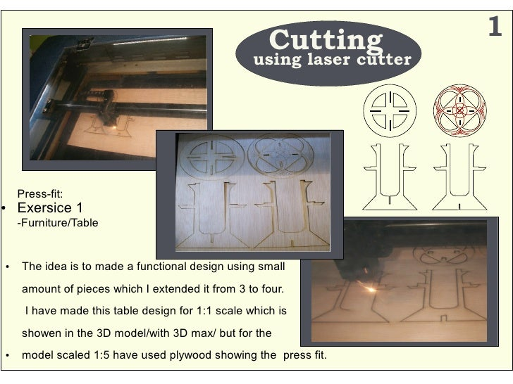 Cutting           1                                                   using laser cutter         Press-fit: ●   Exersice 1...