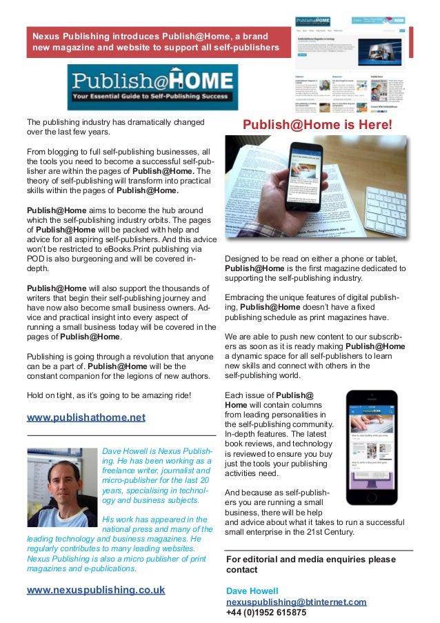 Publish@Home Press Release