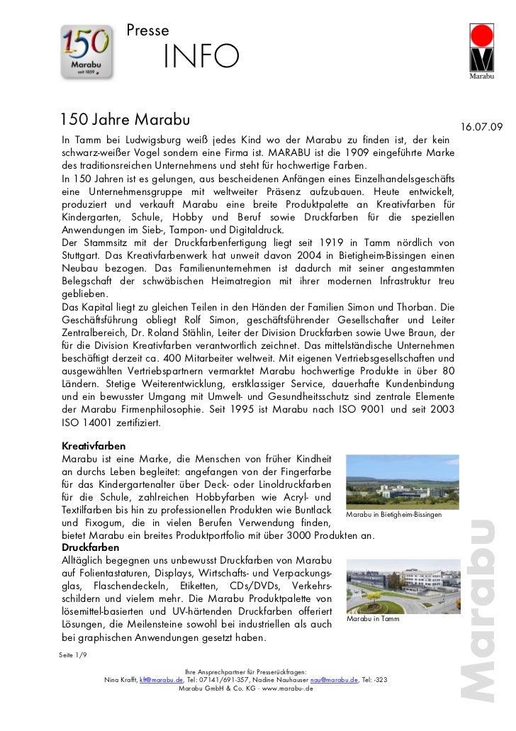 Presse                              INFO150 Jahre Marabu                                                                  ...