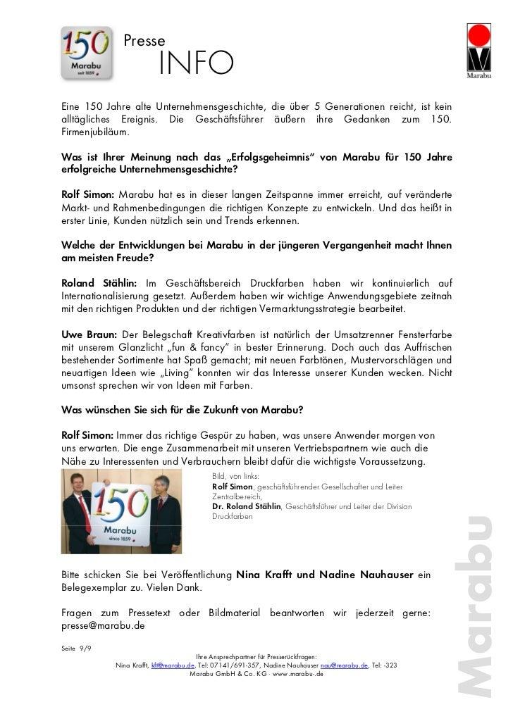 Presse                         INFOEine 150 Jahre alte Unternehmensgeschichte, die über 5 Generationen reicht, ist keinall...