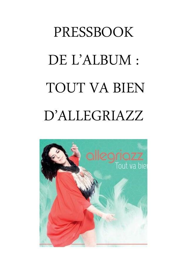 PRESSBOOK DE L'ALBUM : TOUT VA BIEN D'ALLEGRIAZZ