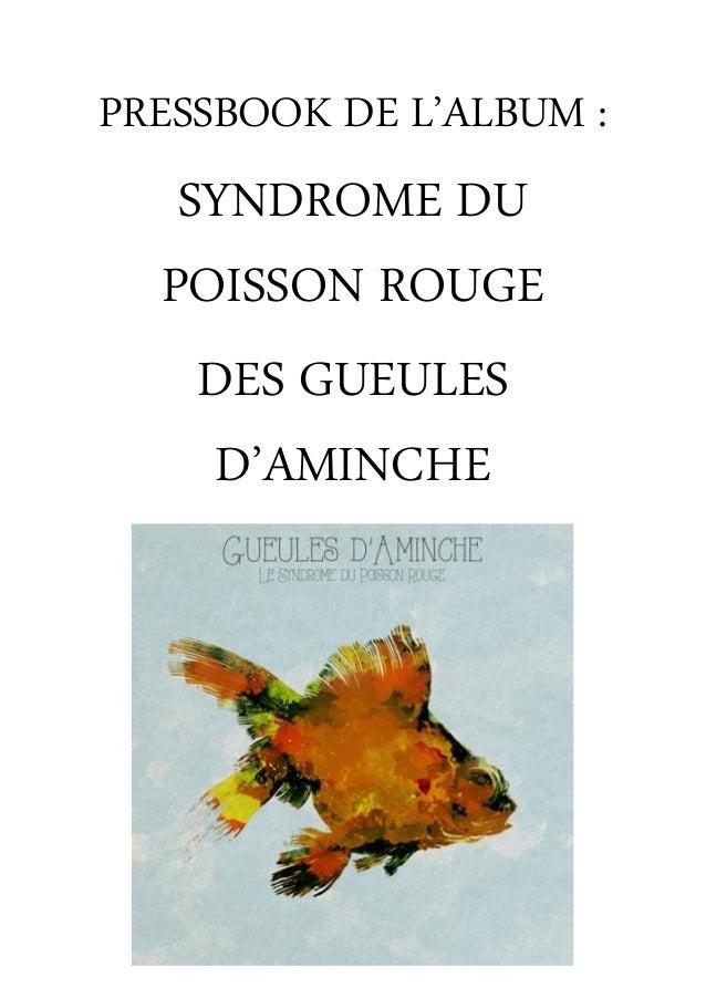 PRESSBOOK DE L'ALBUM : SYNDROME DU POISSON ROUGE DES GUEULES D'AMINCHE