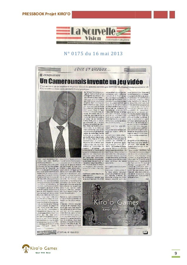 PRESSBOOK Projet KIRO'O  N° 0175 du 16 mai 2013  9