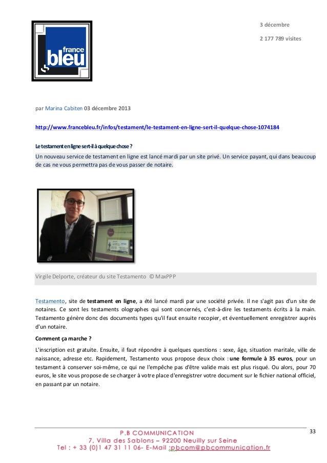 33      par  Marina  Cabiten  03  décembre  2013   http://www.francebleu.fr/infos/testament/le-‐testame...