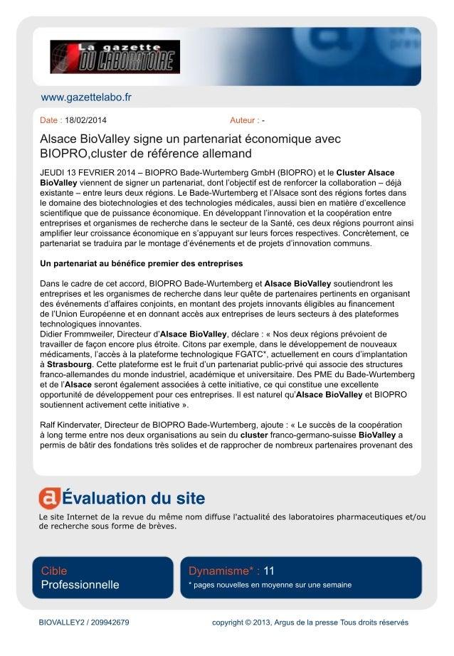 POUR EN SAVOIR PLUS SUR LE SUJET ALSACE BIOVALLEY IPDiA Important investissement pourdes applications médical...