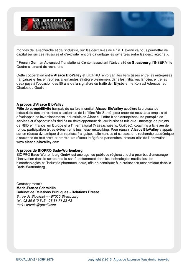 BIOVALLEY2 / 219389418 Tous droits réservés à l'éditeur POTIER, Président délégué en charge des Investissements d'Avenir d...