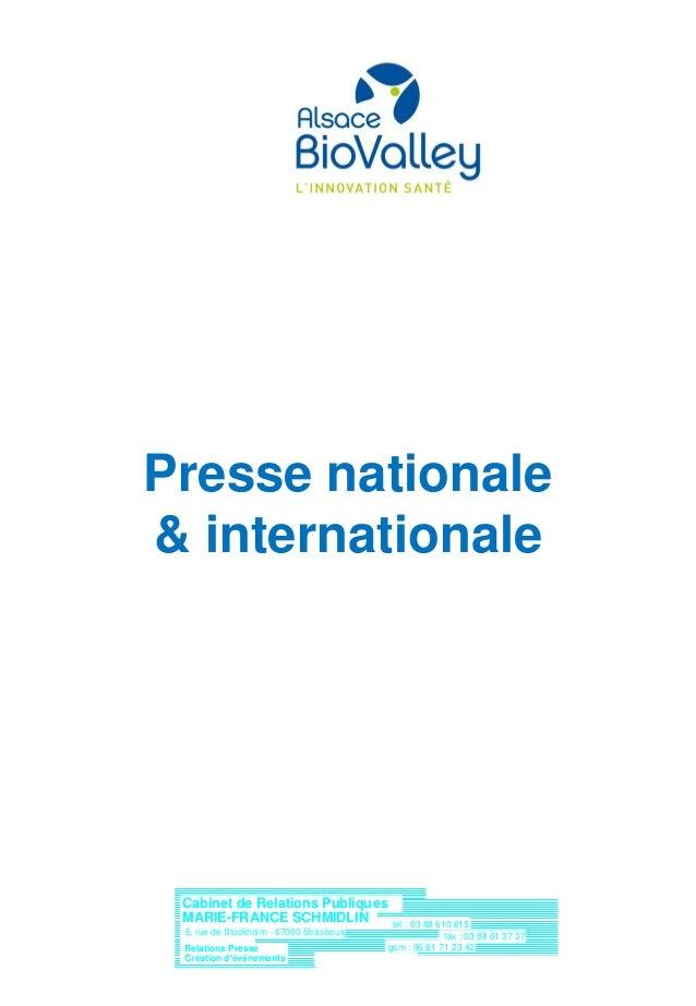 Cabinet de Relations Publiques Création d'événements tél : 03 88 610 615 fax : 03 88 61 37 37 e-mail : crpmfs@aol.com gsm ...