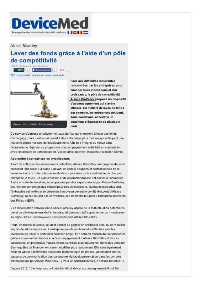 Pour Jean-Yves Bonnefoy,Président d'AlsaceBioValley,qui coordonneleprojet,«cenouveaucentrede formationfaciliteralaformatio...