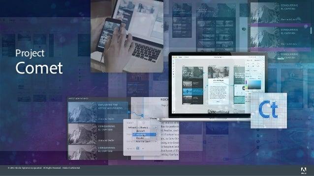 Projet Comet Adobe XD Slide 3