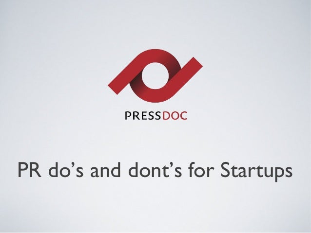 PR do's and dont's for Startups
