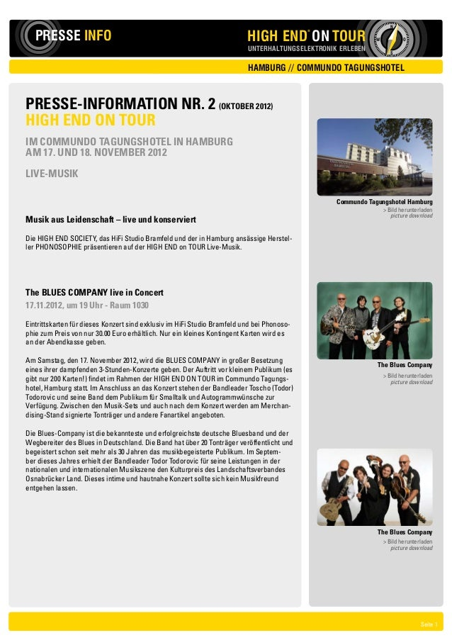 N   PRESSE INFO                                                            HIGH END ON TOUR                               ...