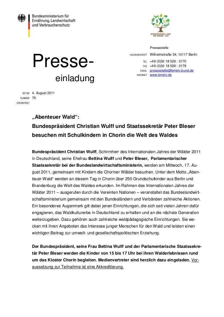 Pressestelle                                                                                 Wilhelmstraße 54, 10117 Berli...