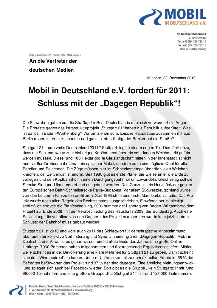 An die Vertreter der    deutschen Medien                                                                     Münche...