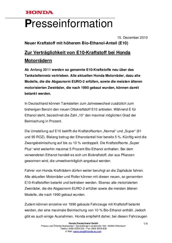 Presseinformation                                                                                 15. Dezember 2010Neuer K...