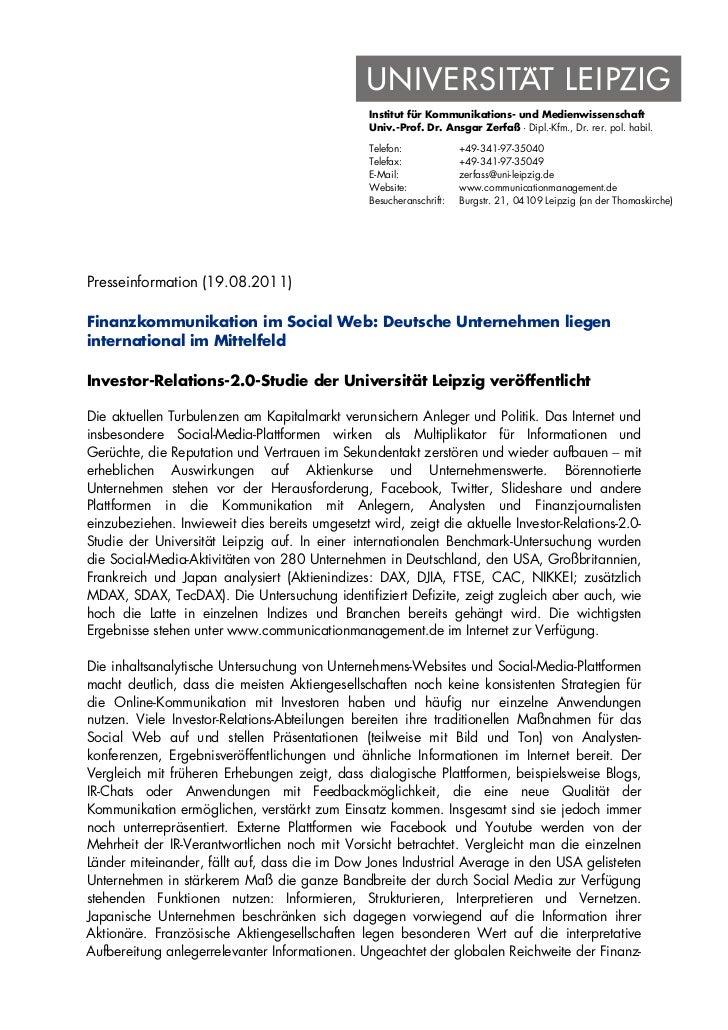 Institut für Kommunikations- und Medienwissenschaft                                                Univ.-Prof. Dr. Ansgar ...