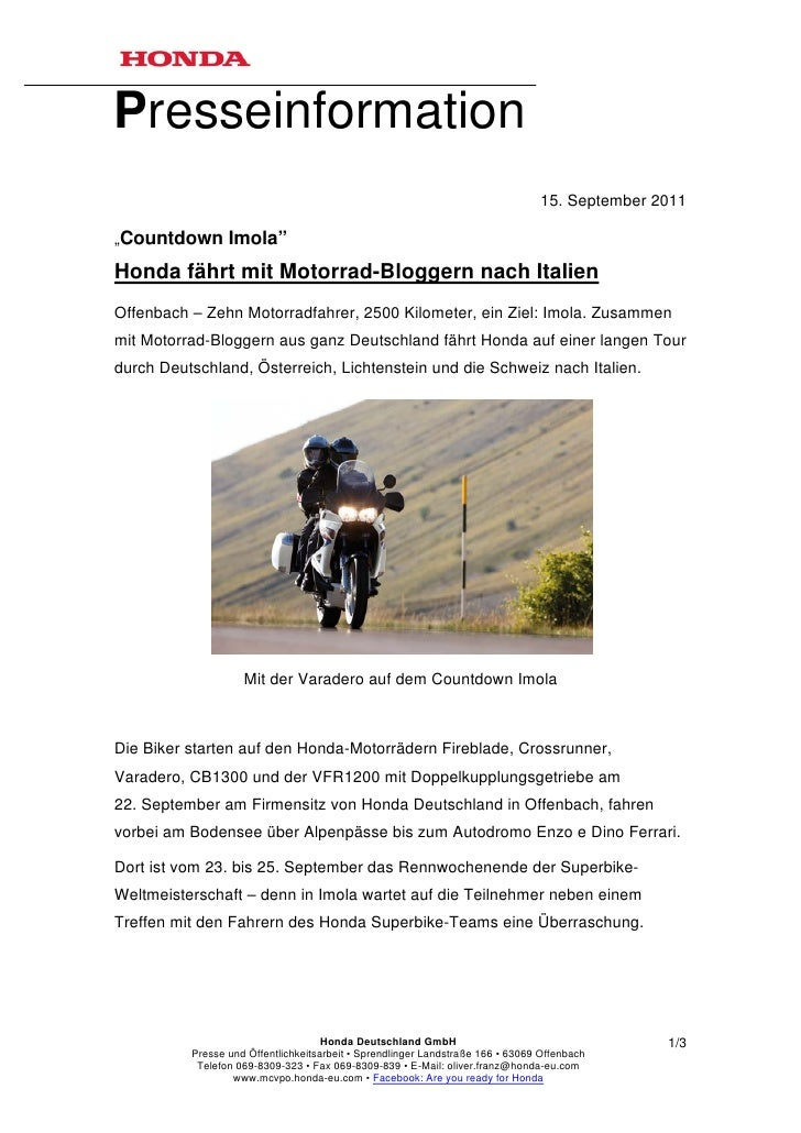 "Presseinformation                                                                                15. September 2011""Countd..."