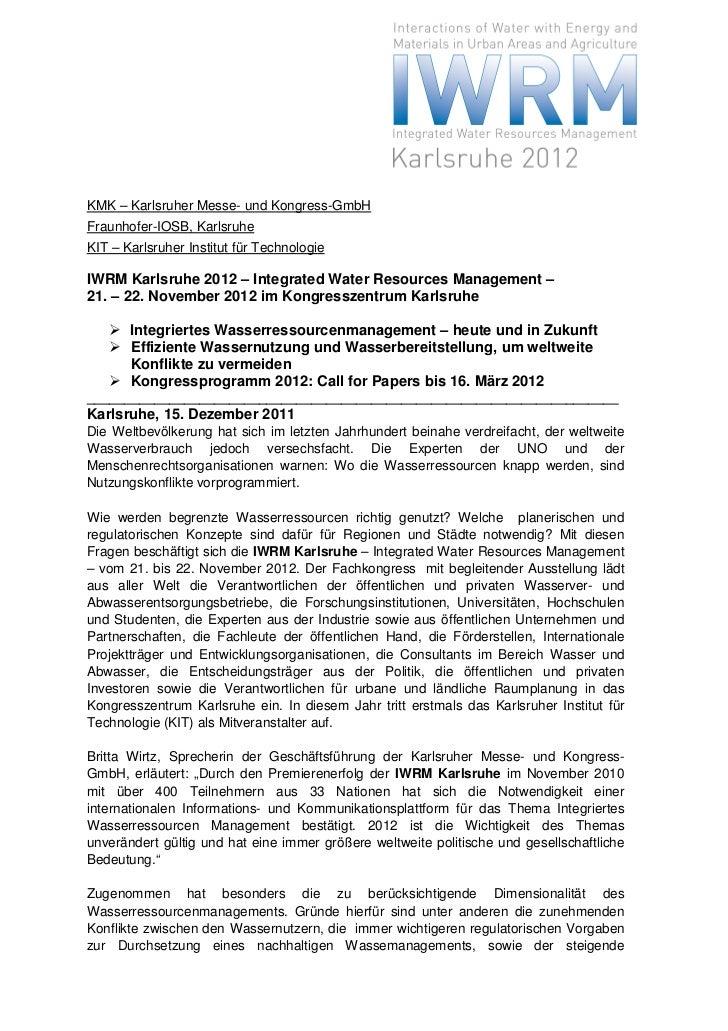 KMK – Karlsruher Messe- und Kongress-GmbHFraunhofer-IOSB, KarlsruheKIT – Karlsruher Institut für TechnologieIWRM Karlsruhe...