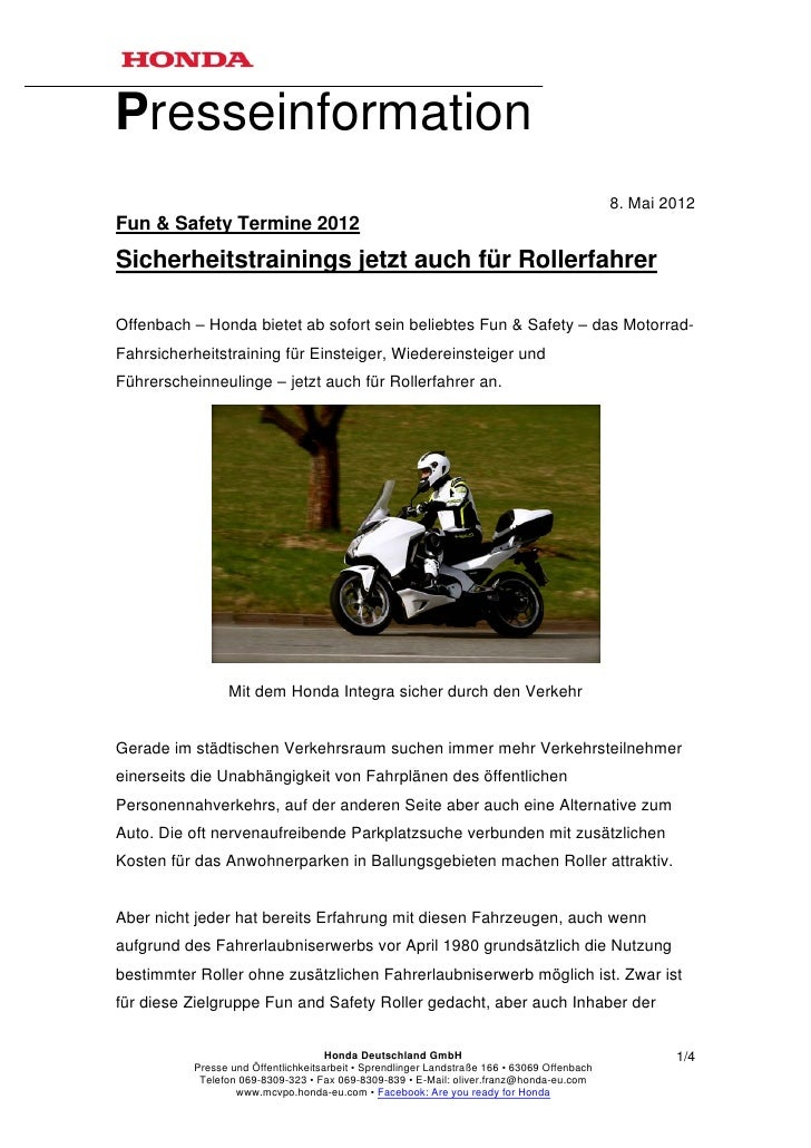 Presseinformation                                                                                             8. Mai 2012F...