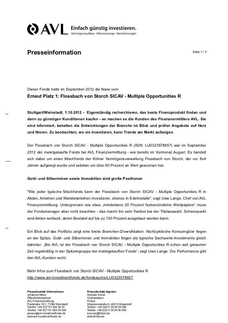 Presseinformation                                                                                Seite 1 / 3Dieser Fonds h...