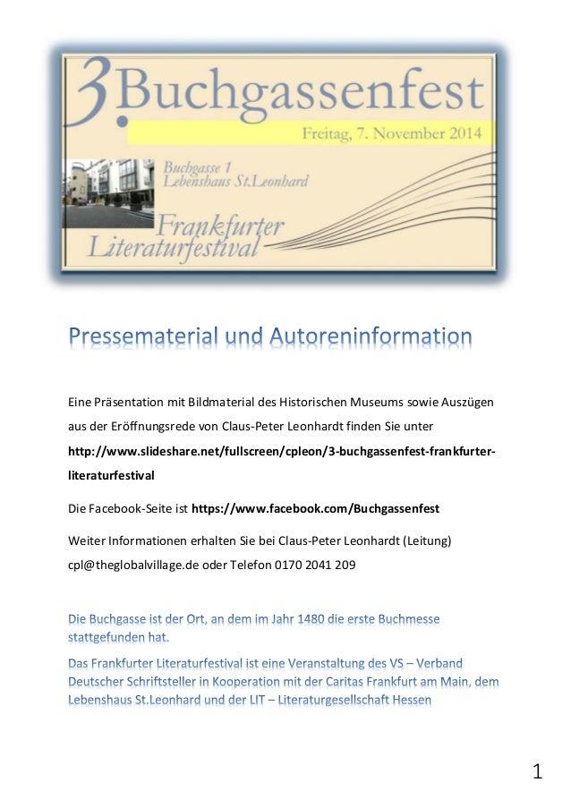 1  Eine Präsentation mit Bildmaterial des Historischen Museums sowie Auszügen  aus der Eröffnungsrede von Claus-Peter Leon...