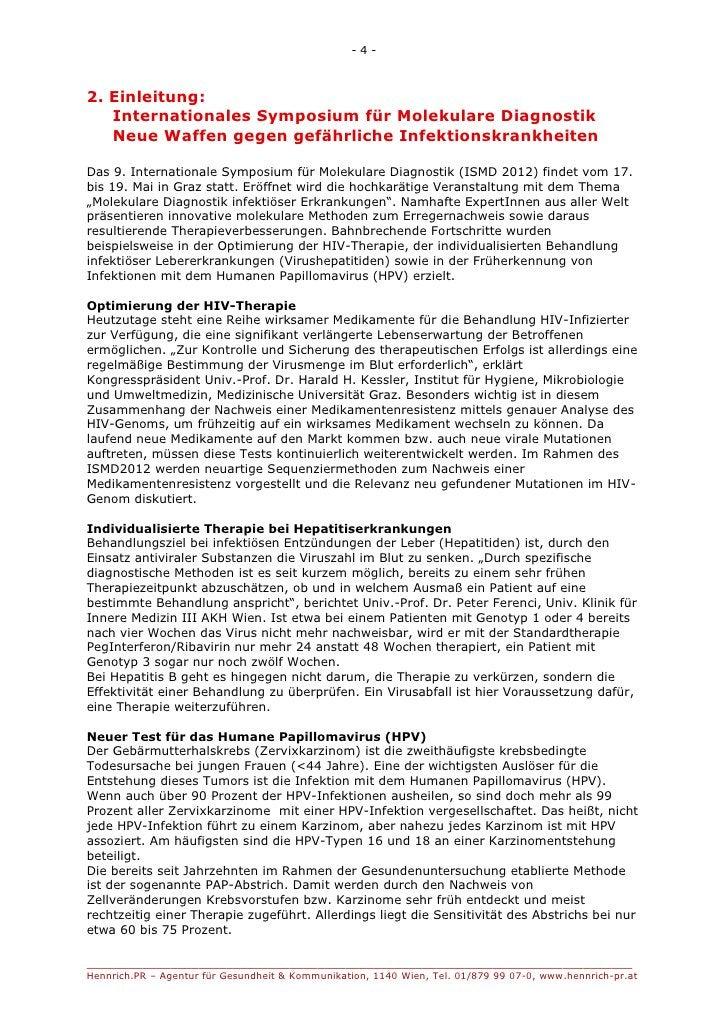 -4-2. Einleitung:   Internationales Symposium für Molekulare Diagnostik   Neue Waffen gegen gefährliche Infektionskrankhei...