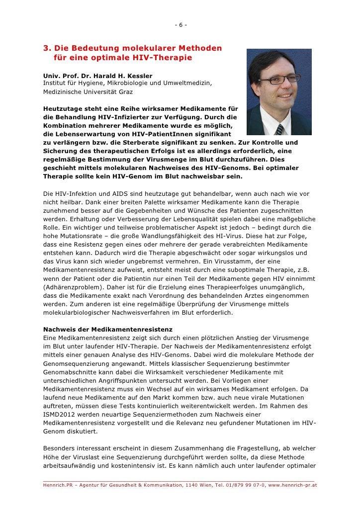 -6-3. Die Bedeutung molekularer Methoden   für eine optimale HIV-TherapieUniv. Prof. Dr. Harald H. KesslerInstitut für Hyg...