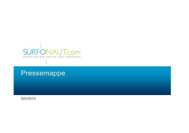 Pressemappe QIII/2010