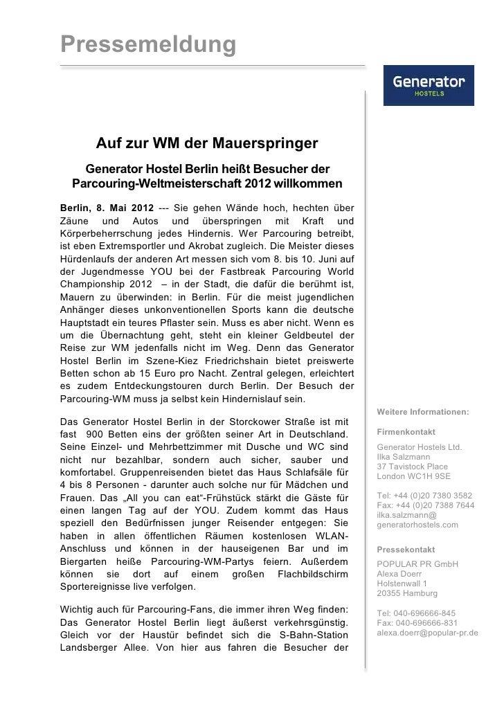 Pressemeldung Berlin