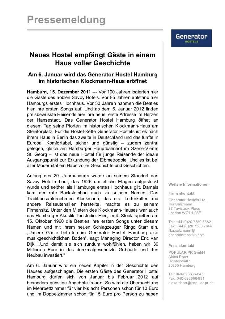 Pressemeldunggenerator Hostel Hamburgpdf