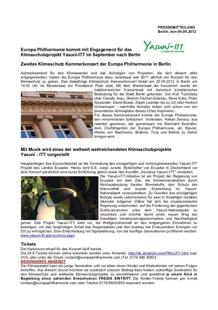 PRESSEMITTEILUNG                                                                                   Berlin, den 04.09.2012E...