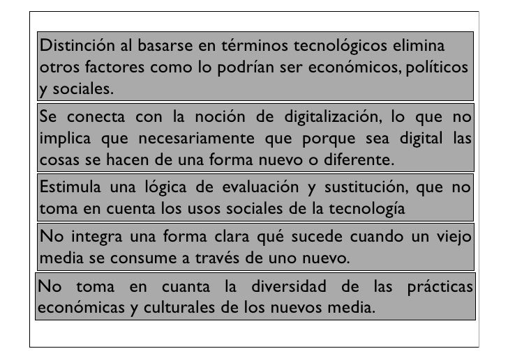 Distinción al basarse en términos tecnológicos eliminaotros factores como lo podrían ser económicos, políticosy sociales.S...