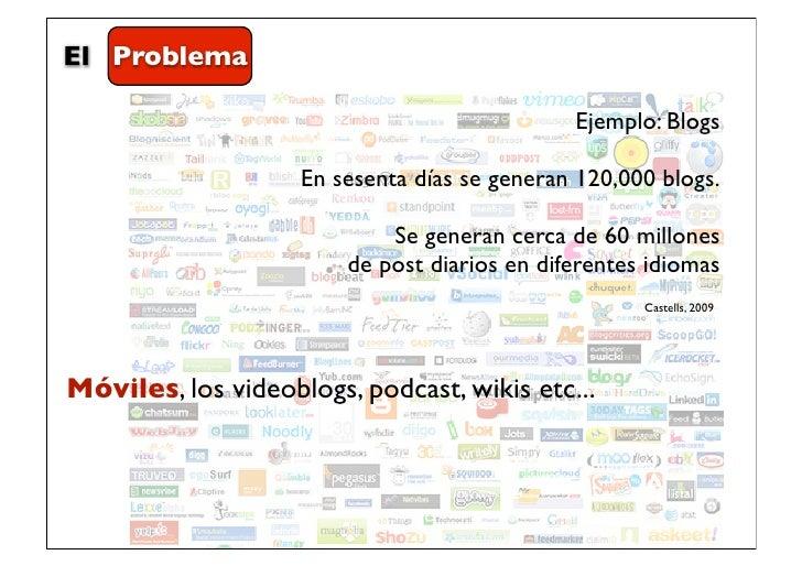 El Problema                                              Ejemplo: Blogs                    En sesenta días se generan 120,...