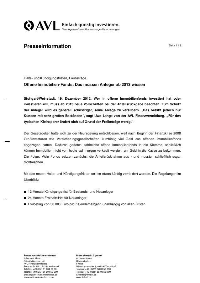 Presseinformation                                                                            Seite 1 / 3Halte- und Kündigu...