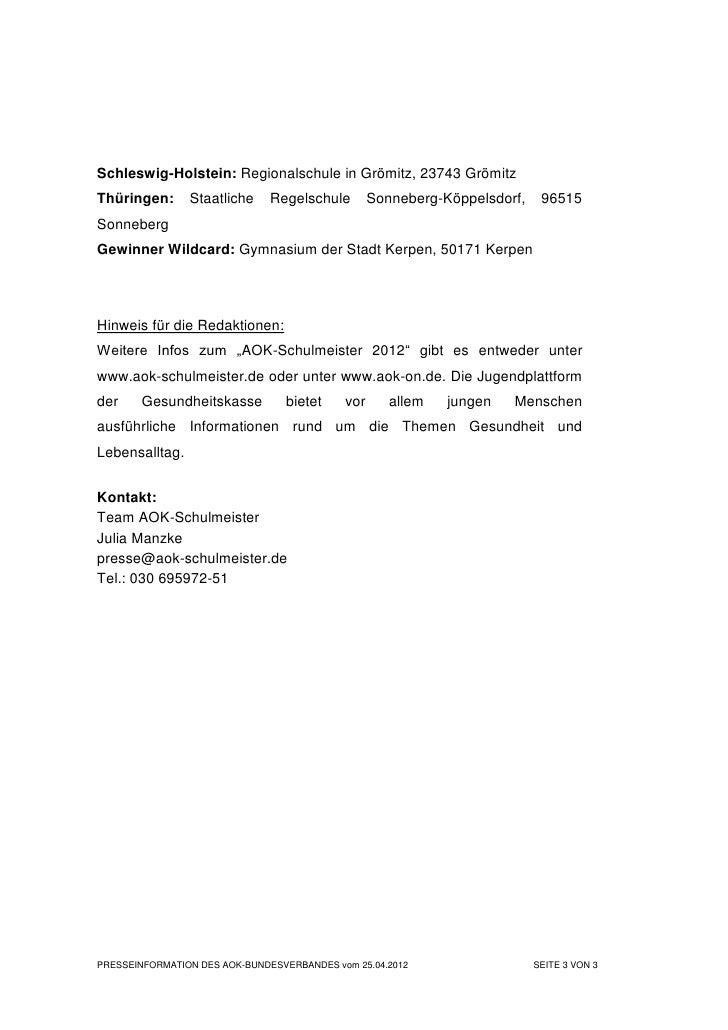 Schleswig-Holstein: Regionalschule in Grömitz, 23743 GrömitzThüringen:      Staatliche     Regelschule        Sonneberg-Kö...