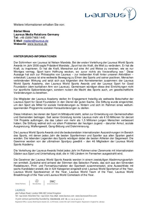 Pressemitteilung Chancen auf Nominierung für die Laureus World Sports Awards 2013.pdf Slide 3